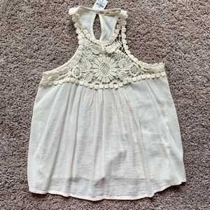 Ivory Lace Tank Top - NWT